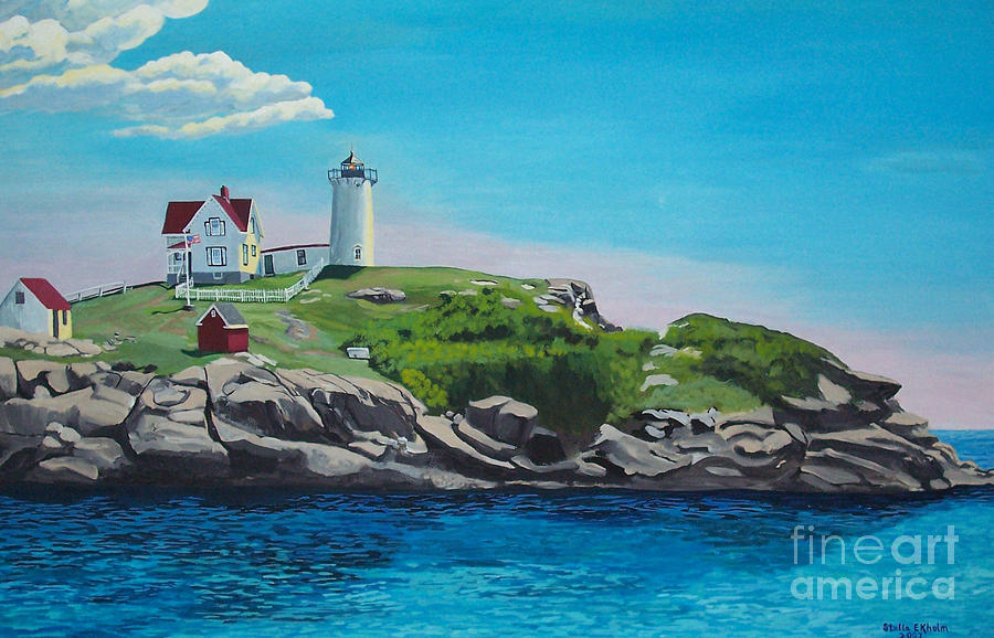 Nubble Lighthouse Sunrise Painting