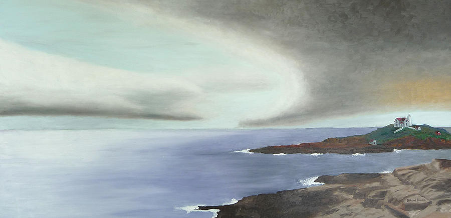 Nubble Painting - Nubble Storm by Dillard Adams