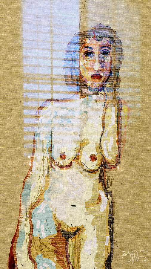 nude by the Window Digital Art  - nude by the Window Fine Art Print