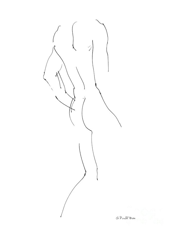 Nude Male Drawings 2 Drawing  - Nude Male Drawings 2 Fine Art Print