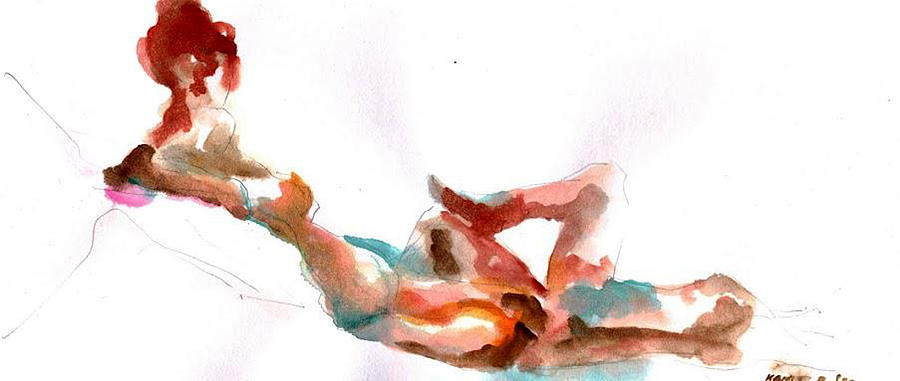 Nude  No.1 Painting  - Nude  No.1 Fine Art Print