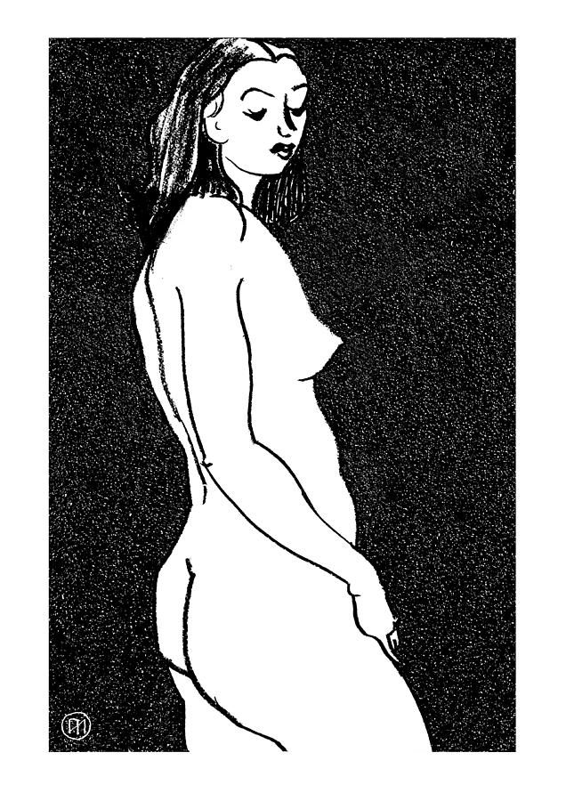 Nude Sketch 8 Drawing  - Nude Sketch 8 Fine Art Print