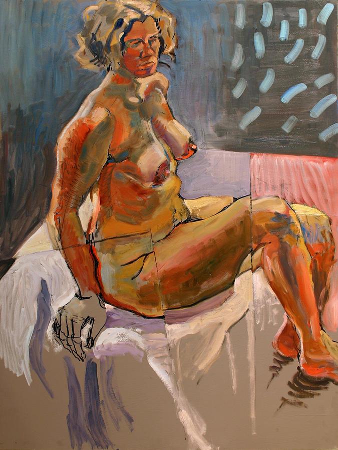 Traditional Painting - Nude-su by Piotr Antonow