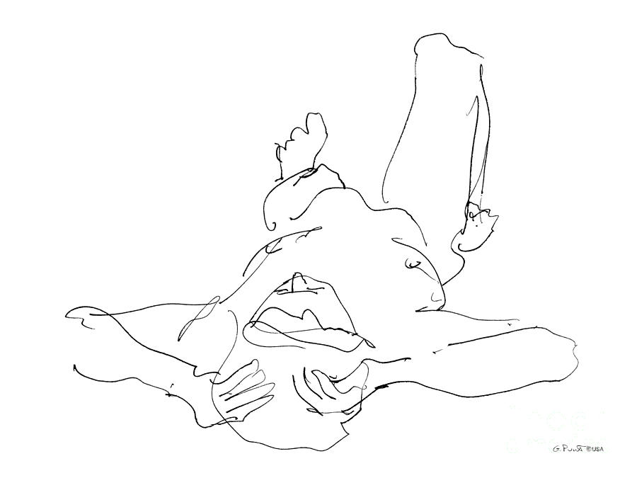 Nude_male_drawings-22 Drawing  - Nude_male_drawings-22 Fine Art Print