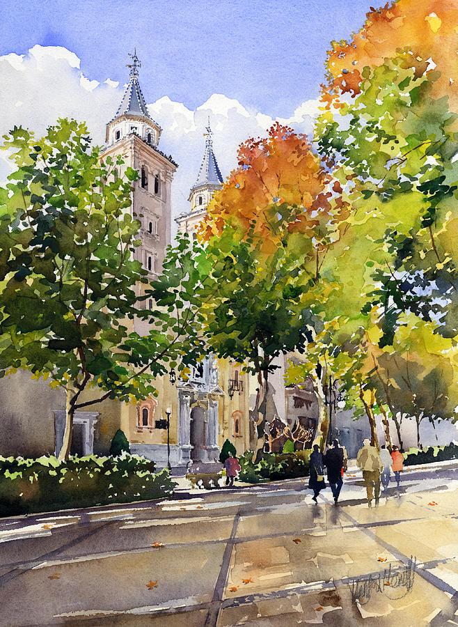 Spain Painting - Nuestra Senora De Las Angustias by Margaret Merry