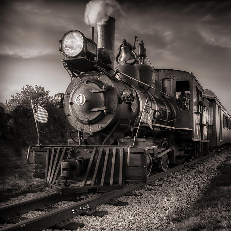 Trains Photograph - Number 4 Narrow Gauge Railroad by Bob Orsillo