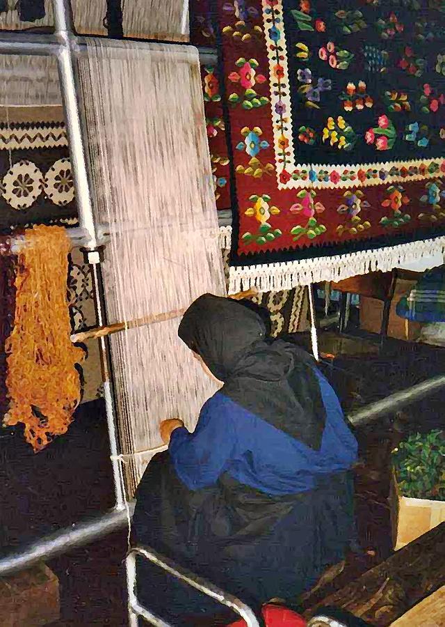 Nun Knotting Carpet Photograph