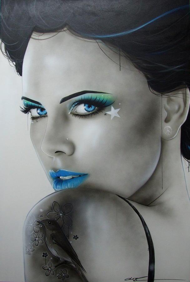 Tattoos Painting - nurture by Christian Chapman Art