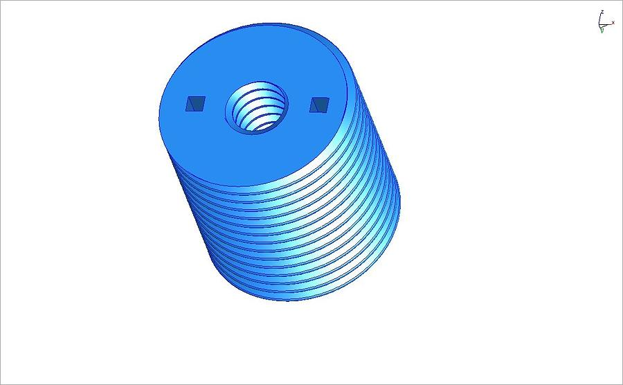 Nut 3d -- Mechanical Brick Ceramic Art