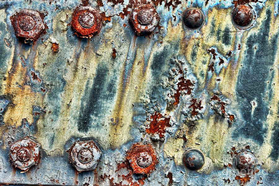 Nuts And Rivets  Photograph