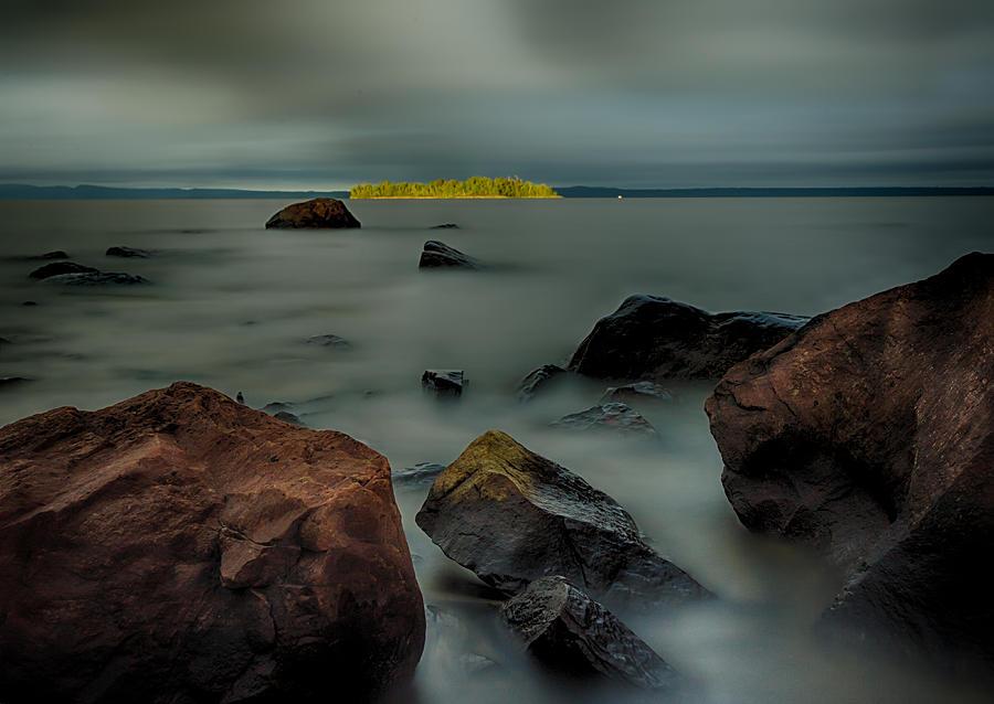 Nuttall Island Last Sunlight Photograph