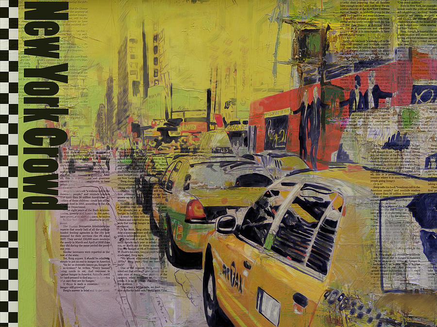 Ny City Collage Painting