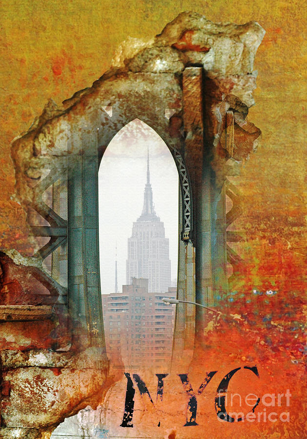 Nyc Abstract Collage Mixed Media