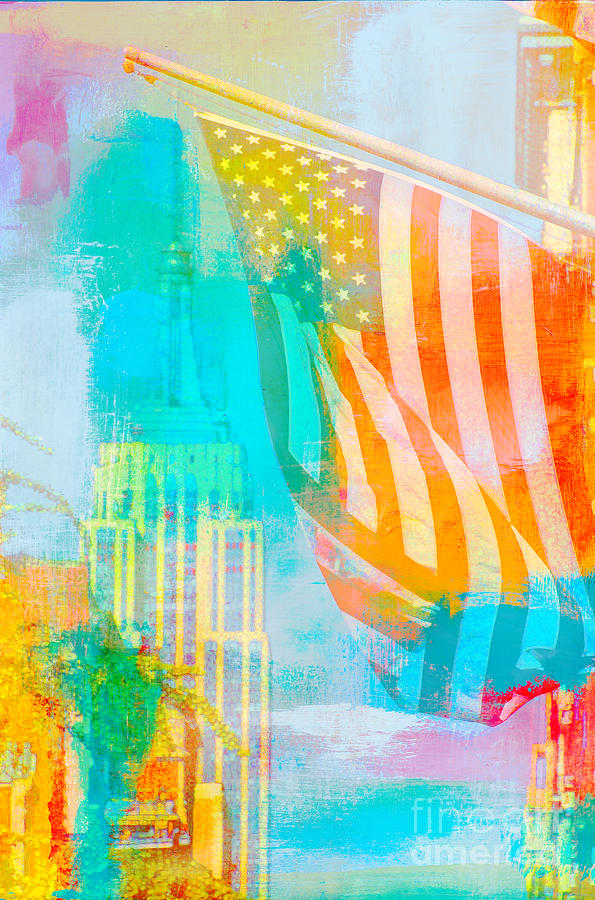 Nyc American Flag Pop Art Digital Art