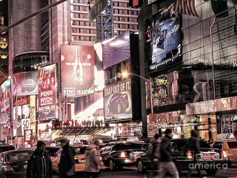 Nyc - Times Square Photograph  - Nyc - Times Square Fine Art Print