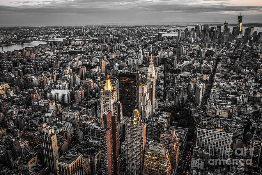 Nycs Golden Tops Photograph  - Nycs Golden Tops Fine Art Print