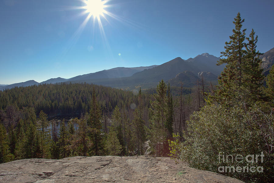 Nymph Lake And Longs Peak Photograph