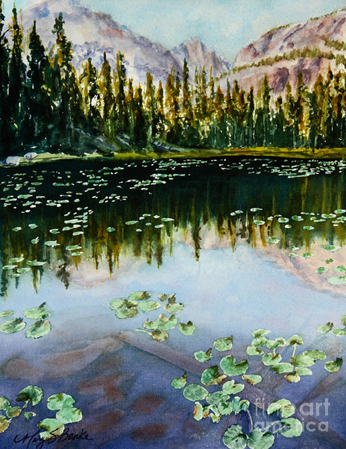 Nymph Lake Painting  - Nymph Lake Fine Art Print