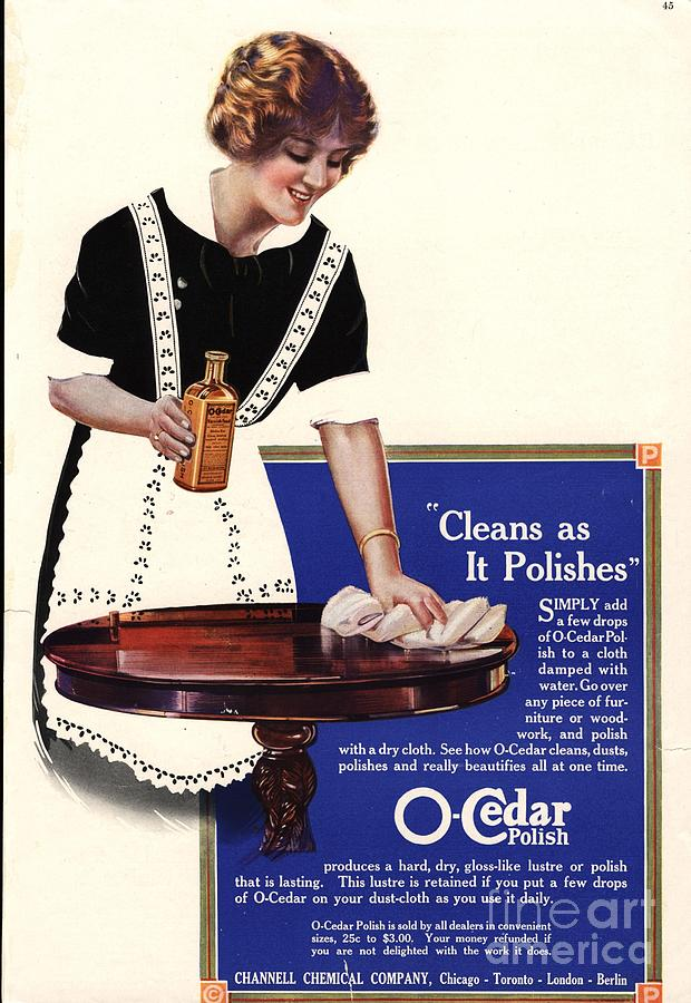 O-cedar 1910s Usa Polish Dusting Drawing