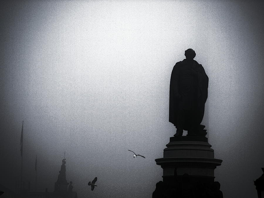 O O'connell Photograph - O Oconnell Street Under Fog by Patrick Horgan