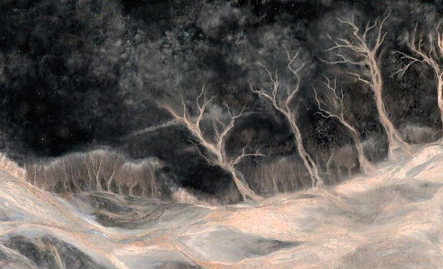 Landscape Painting - O2 by Hans Neuhart