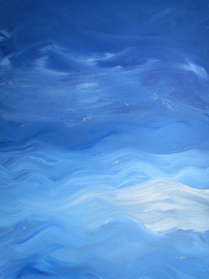 Blue Painting - Oasis by Diana Martinez