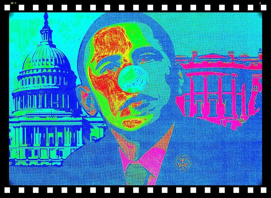 Obama 1 Mixed Media  - Obama 1 Fine Art Print