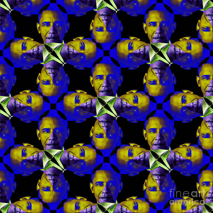 Obama Abstract 20130202m118 Photograph