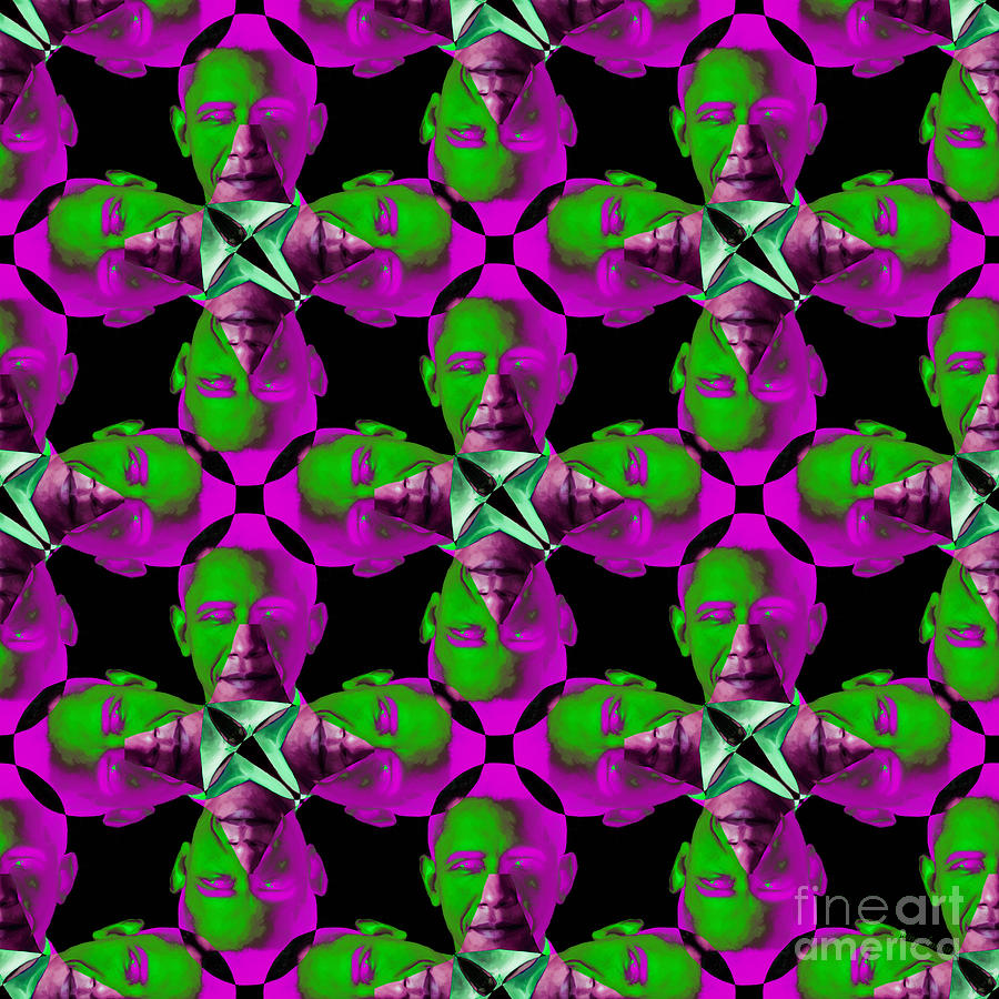 Obama Abstract 20130202m60 Photograph