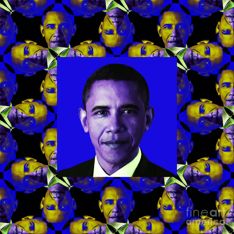 Obama Abstract Window 20130202m118 Photograph