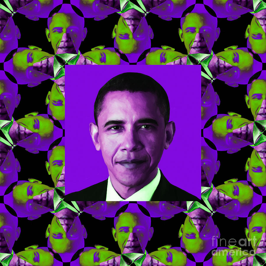 Obama Abstract Window 20130202m88 Photograph