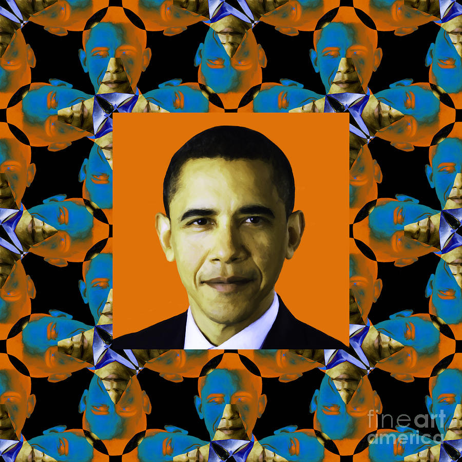 Obama Abstract Window 20130202p28 Photograph