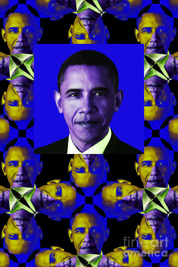 Obama Abstract Window 20130202verticalm118 Photograph