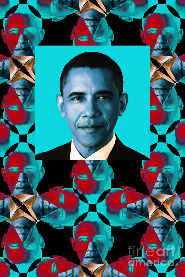 Obama Abstract Window 20130202verticalm180 Photograph  - Obama Abstract Window 20130202verticalm180 Fine Art Print