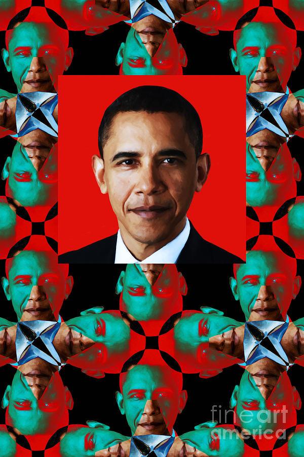 Obama Abstract Window 20130202verticalp0 Photograph