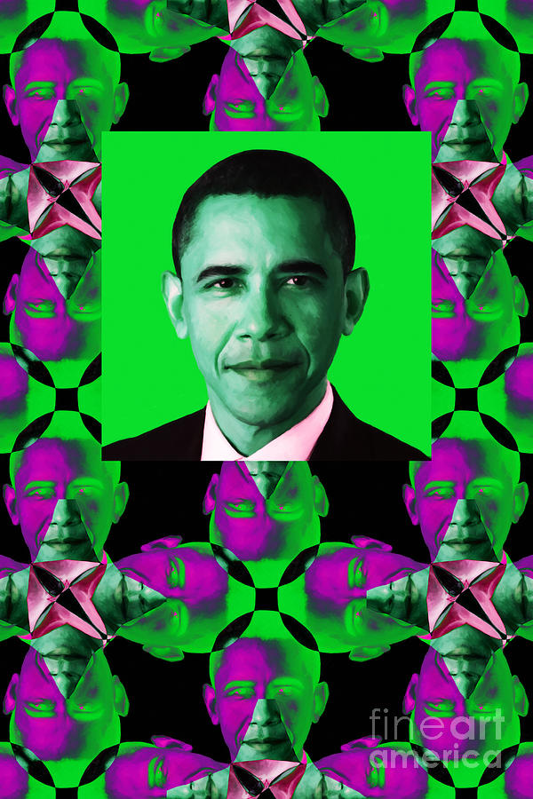 Obama Abstract Window 20130202verticalp128 Photograph  - Obama Abstract Window 20130202verticalp128 Fine Art Print