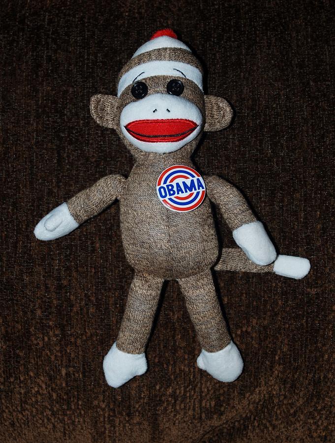 Obama Sock Monkey Photograph