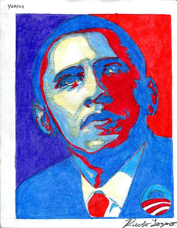 Obey Obama Drawing