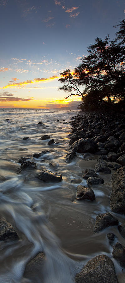 Olowalu Maui Hawaii Ebb Flow Sky Ocean  Photograph - Ocean Flow by James Roemmling