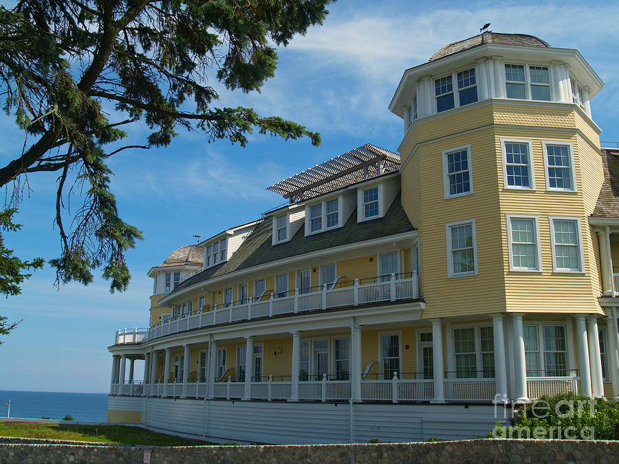 Ocean House Side View - Watch Hill Photograph  - Ocean House Side View - Watch Hill Fine Art Print