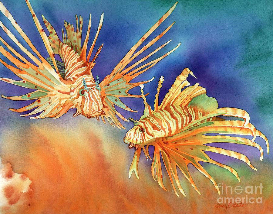 Ocean Lions Painting