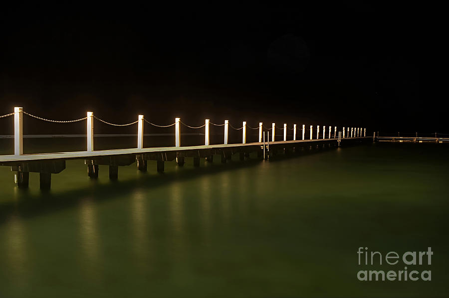 Ocean Pool By Night 2 Photograph  - Ocean Pool By Night 2 Fine Art Print