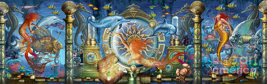 Oceana Triptych Digital Art