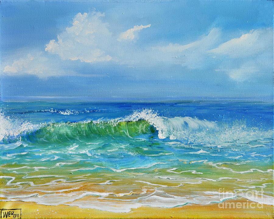 Ocean Painting - Oceanscape by Teresa Wegrzyn