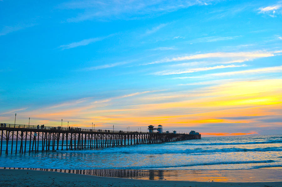 Oceanside Pier Sunset Photograph  - Oceanside Pier Sunset Fine Art Print