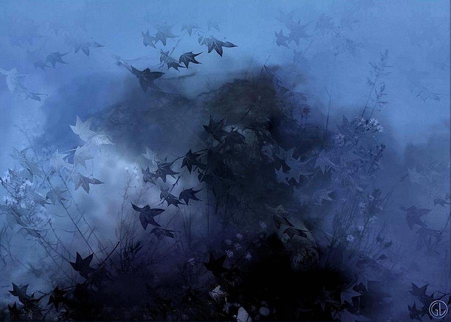 October Blues Digital Art  - October Blues Fine Art Print