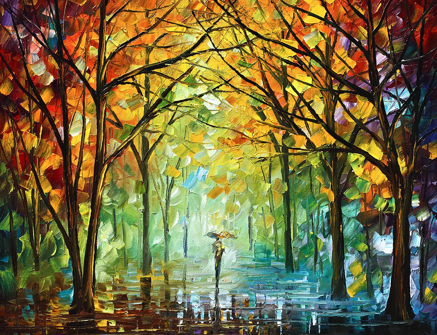 October In The Forest Painting