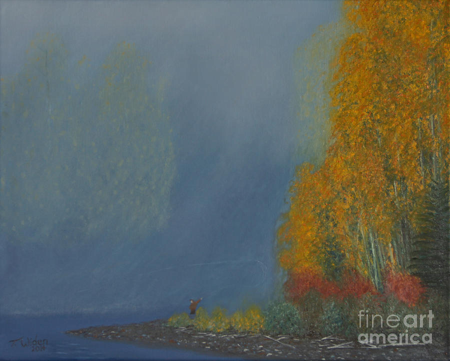 October On The Bulkley Painting