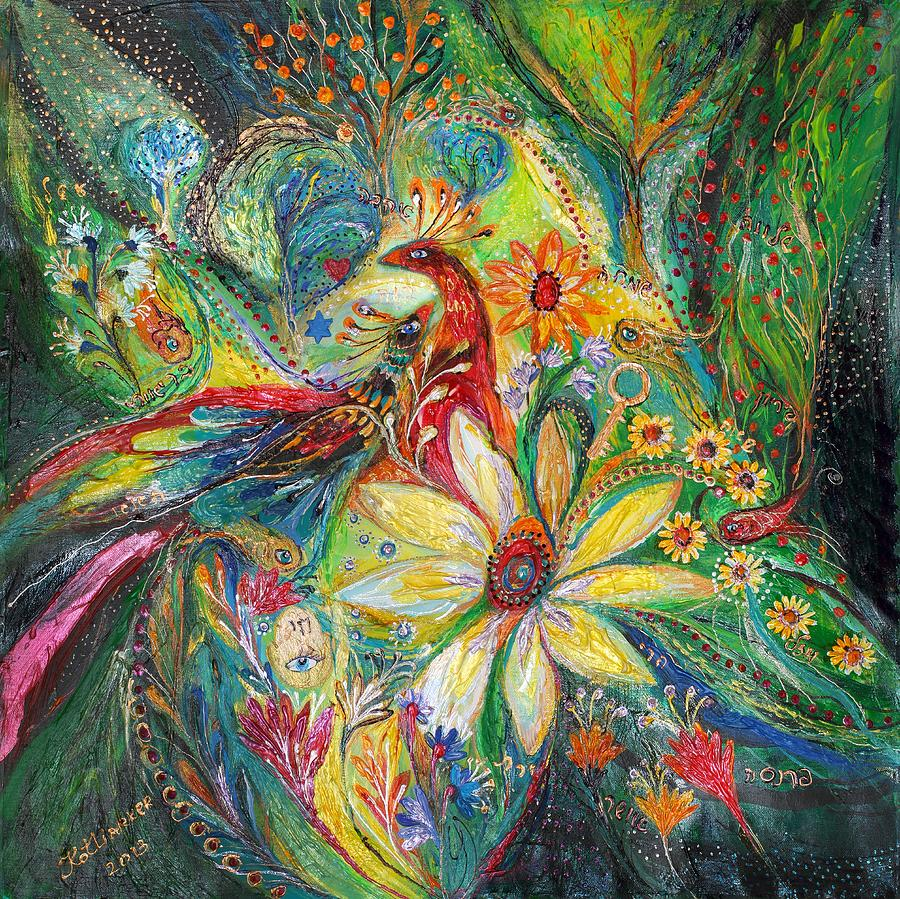 Original Painting - Ode To My Flowers by Elena Kotliarker