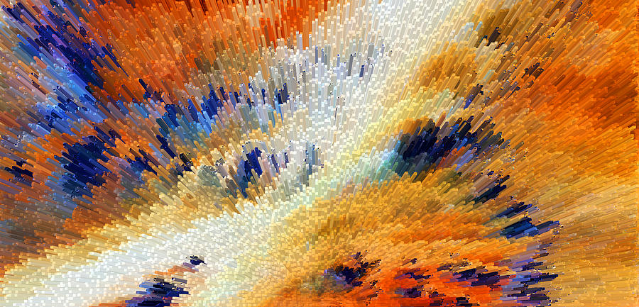 Odyssey - Abstract Art By Sharon Cummings Painting  - Odyssey - Abstract Art By Sharon Cummings Fine Art Print